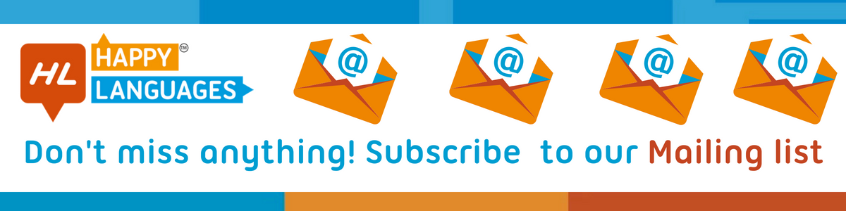 Subcribe to our mailing list and learn Spanish online