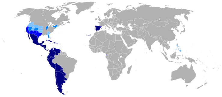Spain Map Of Languages.Differences Between Spanish In Spain And Latin America Happy Languages