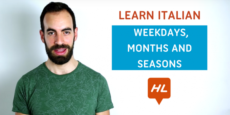 weekdays, months, seasons