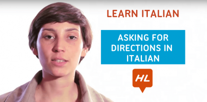 Asking for directions in Italian