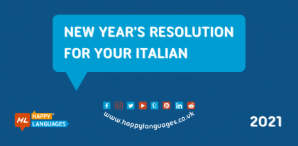 Italian learning is a great New Year Resolution