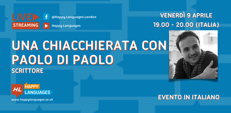 chat with Paolo Di Paolo in live streaming